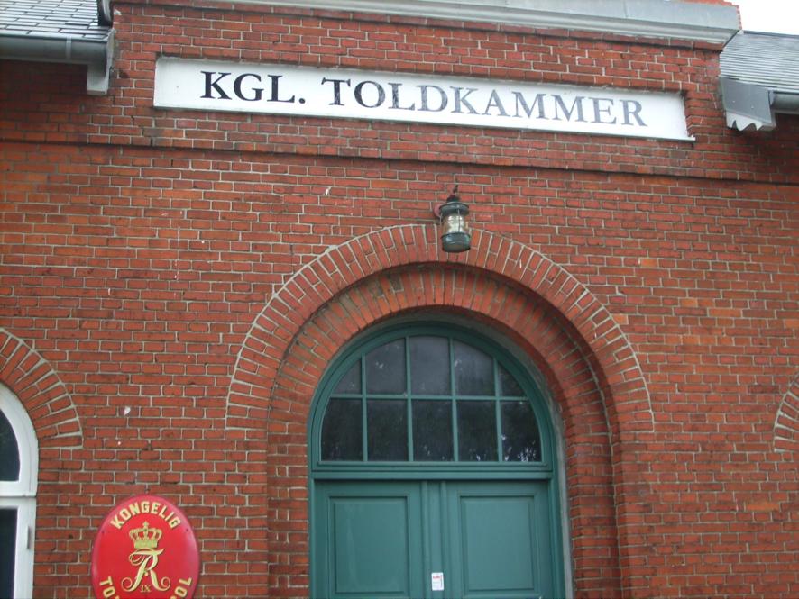 Historisches Zollgebäude in Marstal auf Ærø